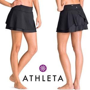 Athleta Layered Mesh Athletic Skort